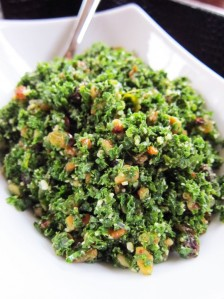 My  crowd pleasing Kale and Parmesan salad!